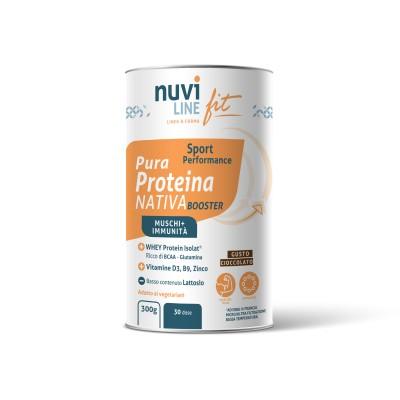 Proteina nativa whey booster gusto cioccolato