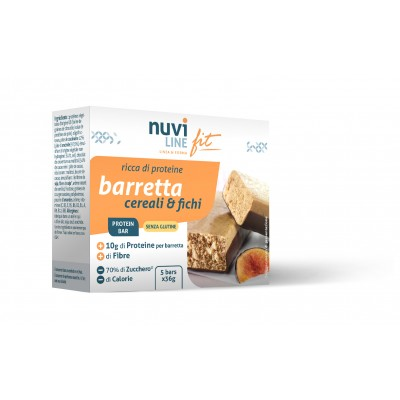 Barretta cereali e fichi ricca di proteine