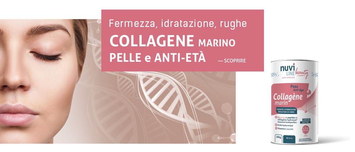 Collagene marino con acido ialuronico e vitamina c, pelle e antieta