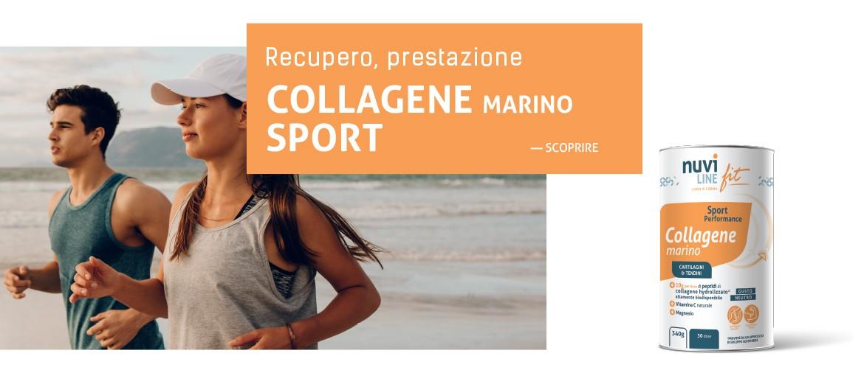 Collagene marino con vitamina C e magnesio per la nutrition del sport